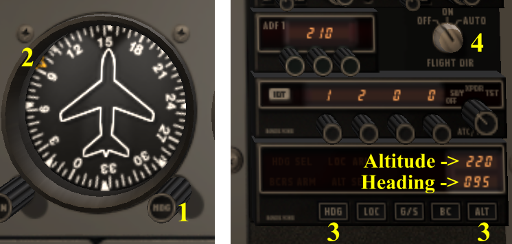 how to set autopilot in x-plane 10